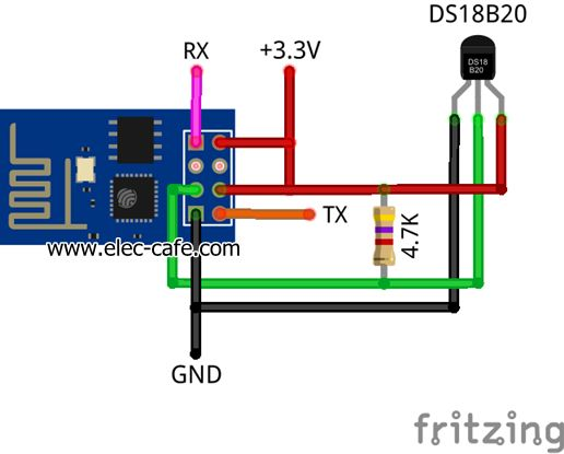 Temperature Sensor On The Web With Esp8266 And Ds18b20