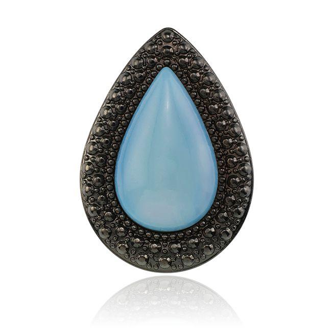 SAMANTHA WILLS - BOHEMIAN BARDOT RING - PEARL BLUE