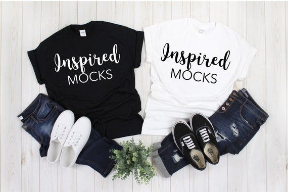 Download Free Gildan 500 Black And White T Shirt Mockup Psd Free Psd Mockups Shirt Mockup Mockup Free Psd Best Friend T Shirts