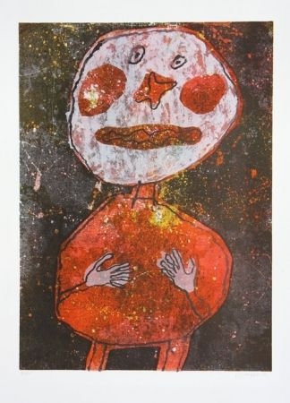 Lithograph - Jean Dubuffet - Personnage au Costume Rouge