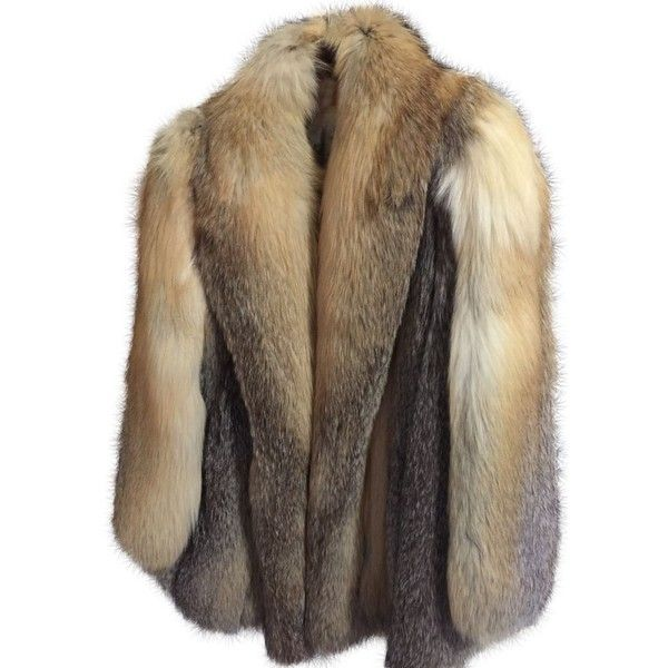 Pre-owned Anne Klein Vintage Bullocks Wilshire Fur Coat (935 CAD) ❤ liked on Polyvore featuring outerwear, coats, red fox fur, vintage coat, brown coat, anne klein, red coat and anne klein coats