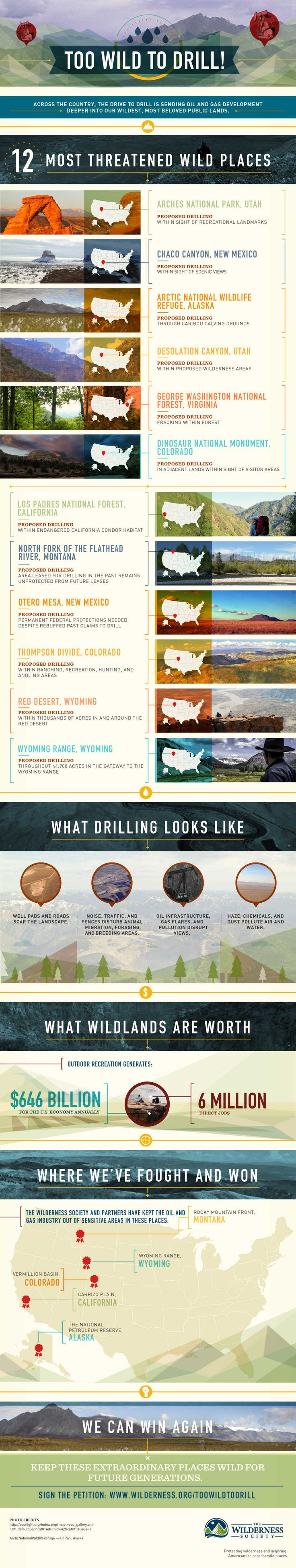 Infographic: These 12 places are Too Wild to Drill