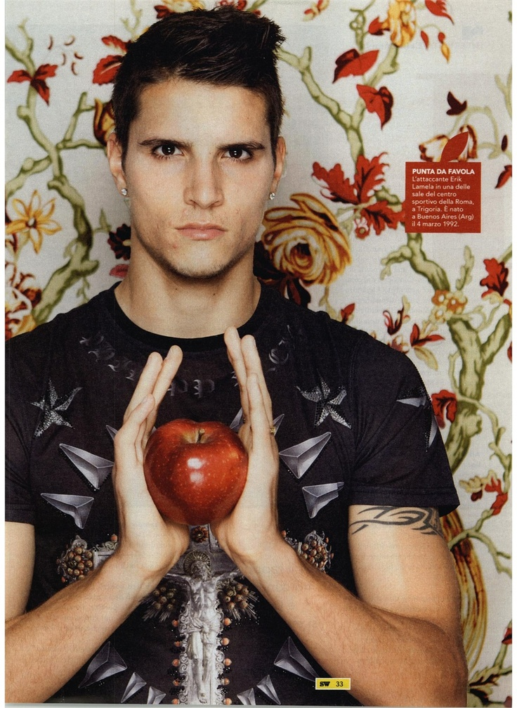 #ErikLamela the rising star of #AsRoma featured in Sport Week of course wearing #PHILIPPPLEIN.