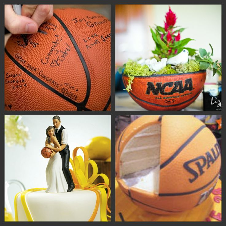 basketball themed wedding  | Weddings Are Fun Blog  I love the topper