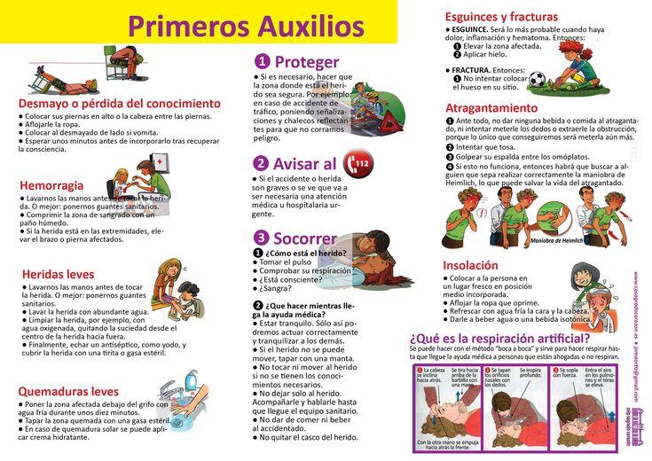 Image result for infografia primeros auxilios