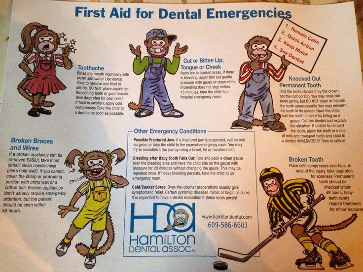 First Aid for Dental Emergencies Health Pinterest