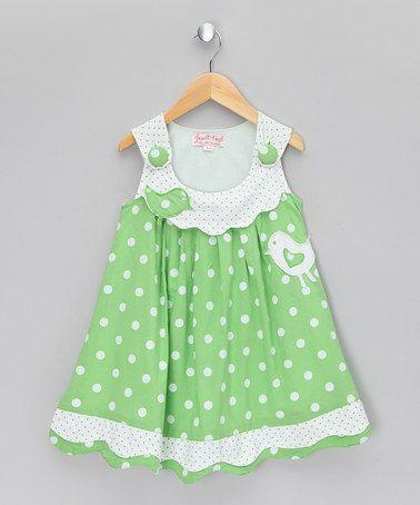 Take a look at this Floral Green Bird Jumper - Infant, Toddler & Girls by Powell Craft on #zulily today!