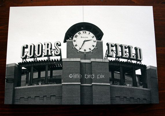 Colorado Rockies Baseball Stadium  Coors Field in by littlebirdpix, $50.00