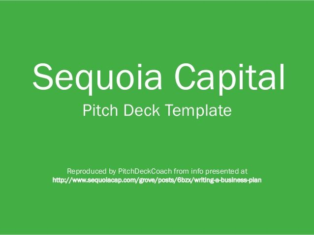 sequoia capital pitch deck template startup pitch decks pinterest decks templates and pitch. Black Bedroom Furniture Sets. Home Design Ideas