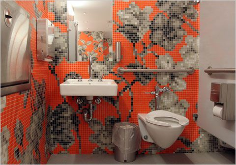 the jerome l. and ellen stern restrooms at the new museum, new york