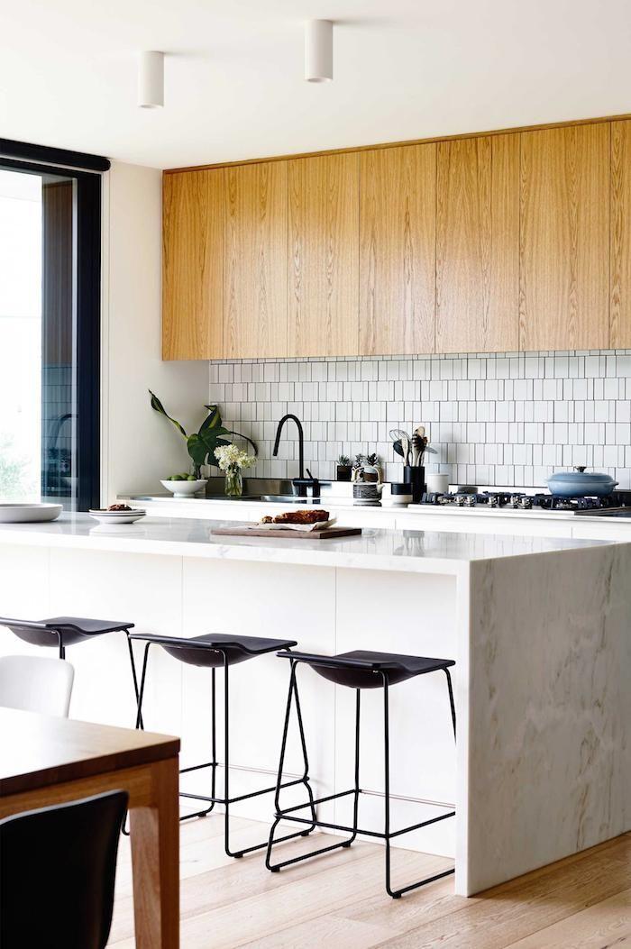marble counter - wood floor   photo derek swalwell