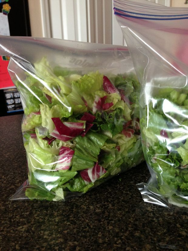 Healthy Habit: Salad Prep. I did this method to prepare for my week of salads and it really works. The greens lasted much longer than they usually do!