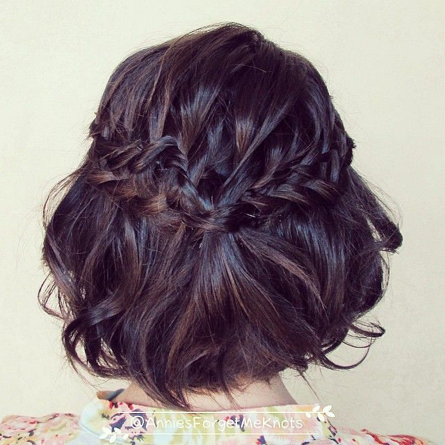 And who says you can't do braids in short hair?! Loose ladder braid.