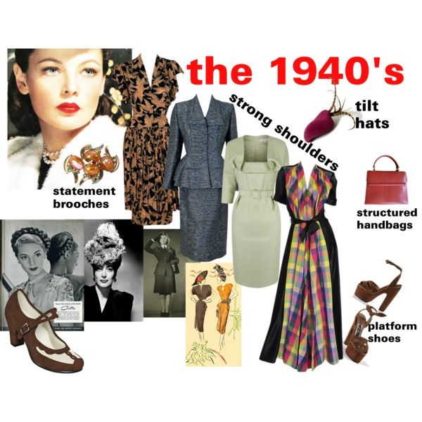 Key Looks And Terms Of 1940 39 S Fashion By Dana Forlano On