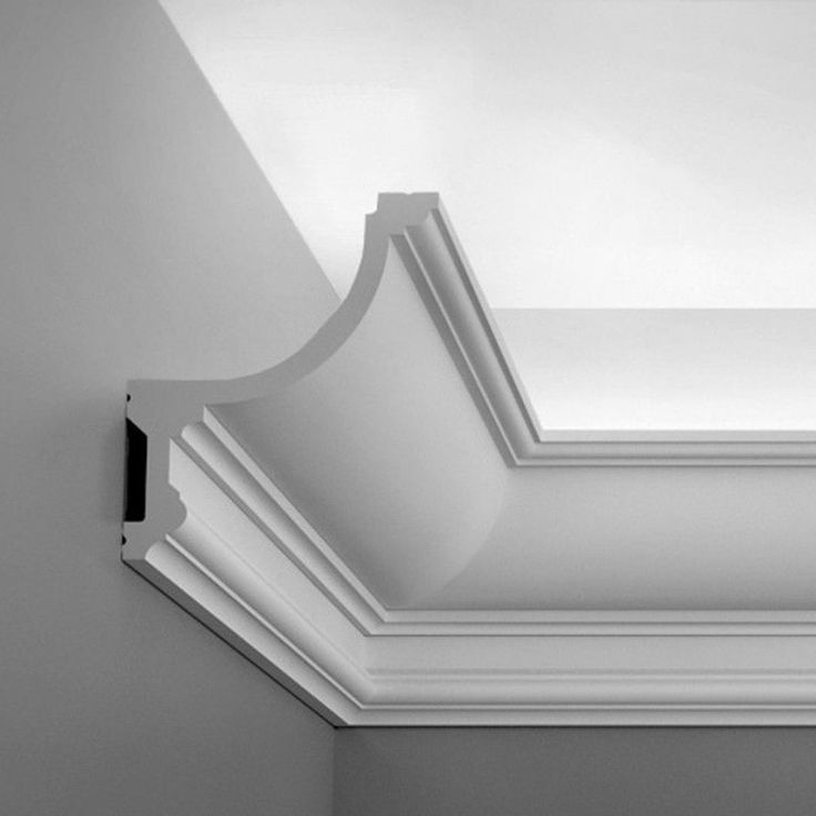 Crown molding with built in LED uplighting. Oracdecor.com