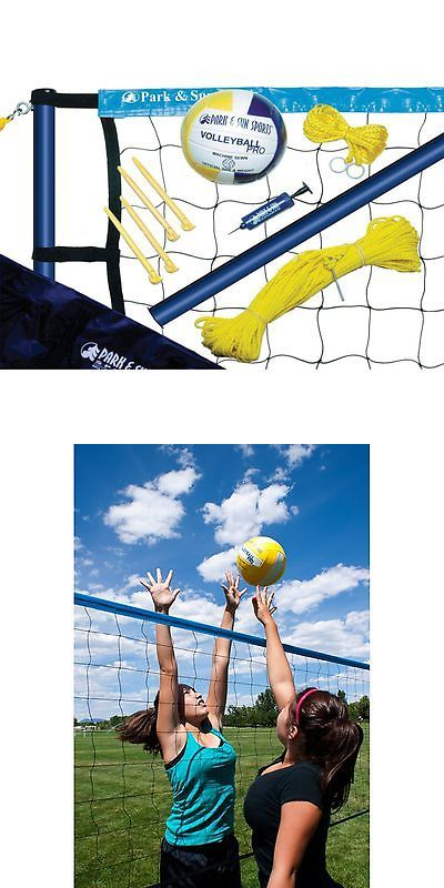 Nets 159131: Park And Sun Spiker Sport Steel Volleyball Set, Blue BUY IT NOW ONLY: $69.99