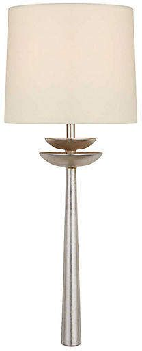 Aerin Beaumont Medium Tail Sconce Silver Leaf