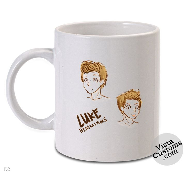 5SOS cartoon art luke hemming, Coffee mug coffee, Mug tea, Design for mug, Ceramic, Awesome, Good, Amazing