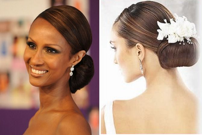 wedding low bun hairstyles african american - Google Search