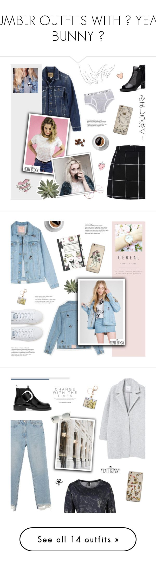 """""""TUMBLR OUTFITS WITH 🐰 YEAH BUNNY 🐰"""" by paradiselemonade ❤ liked on Polyvore featuring Paige Denim, Yeah Bunny, tumblr, YeahBunny, adidas, M.i.h Jeans, MANGO, Maison Margiela, Ray-Ban and HUGO"""
