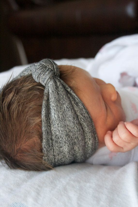 If one must tie something around a baby's head, this is far better than those lace things. At least this might be comfortable. #babyfgirl #Etsy