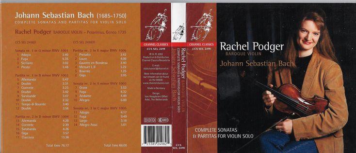 classical music digipak CD 6 panel media bach Rachel Podger violin