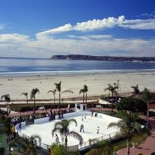 Hotel Del Coronado in Coronado California with an ice rink oceanside - Sweet!