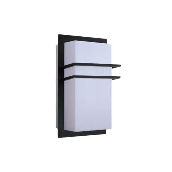 Kinkiet LAMPA elewacyjna SEATTLE 8169 Rabalux zewnętrzna OPRAWA ścienna do ogrodu IP44 outdoor prostokąt biały czarny