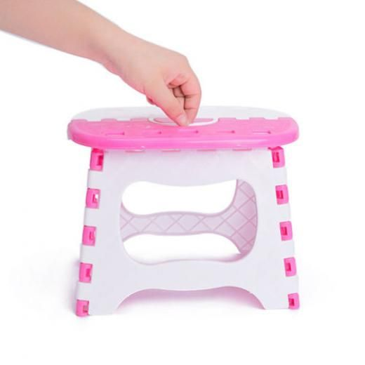 Small Folding Stool Capacity 2 Color Sturdy Stable Foldable Plastic Step