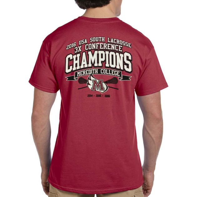 Meredith College 2016 Lacrosse Champions T-Shirt