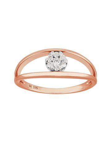 9KT Rose Gold Dimond Ring SB0239