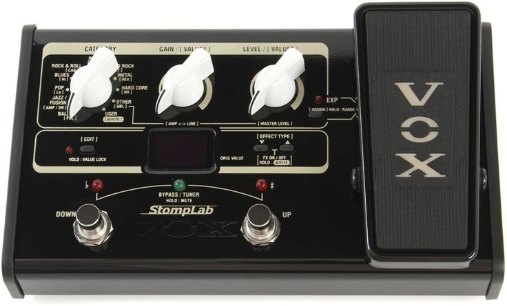 Vox StompLab IIG -  a super-affordable and compact multi-effect unit that gives you 104 effects for the price of one traditional pedal.