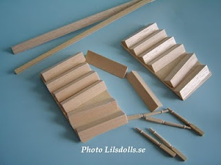 DIY Stairs for dollhouse