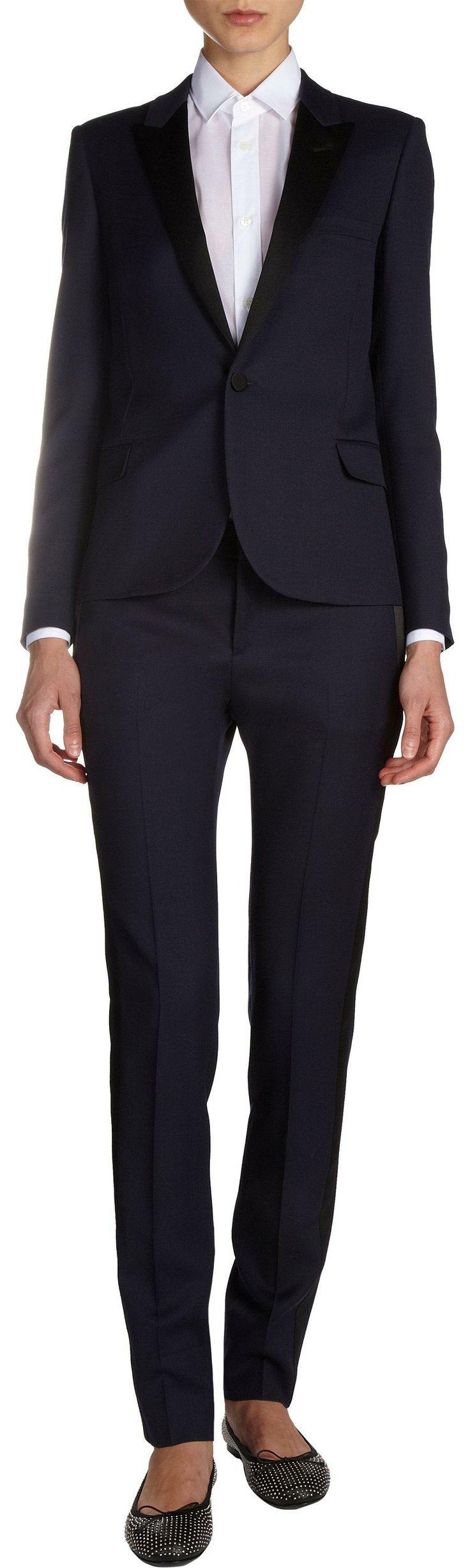 Saint Laurent Slim Tuxedo Jacket   womens tuxedo jacket   womenswear   womens style   womens fashion   wantering