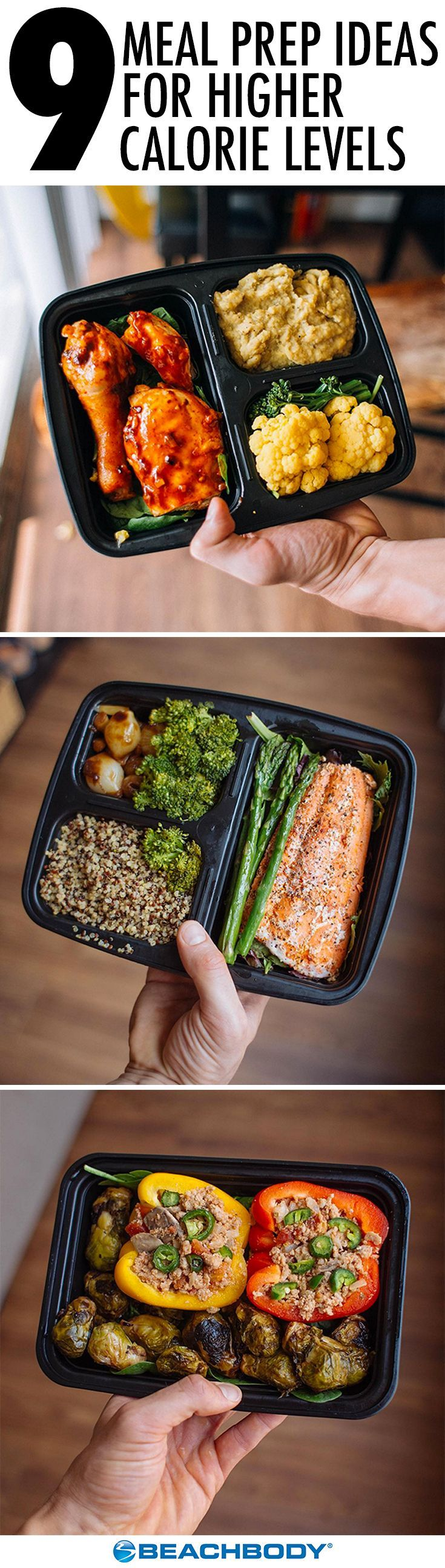 When you're trying to pack on muscle, you have to fuel your body with lots of high-quality food. Meal prepping can help you hit your calorie requirements with healthy food that's also delicious. Here are nine tasty meals for you to try! // meal prep // meal prep ideas // meal planning // high calorie level // body building // Beachbody // BeachbodyBlog.com