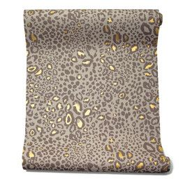 The Best Leopard-Print Wall Coverings - WSJ.com  ocelot wallpaper, $255 per roll, Farrow-ball.com