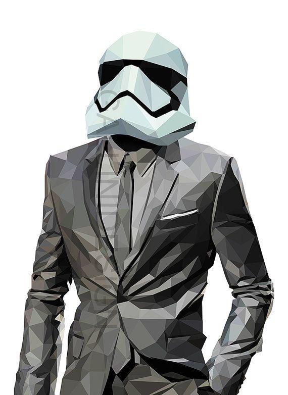Stormtrooper print star wars poster large printable art - Stormtrooper suit wallpaper ...