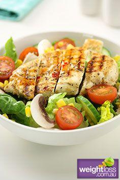Healthy Chicken Salad. #HealthyRecipes #DietRecipes #WeightLossRecipes weightloss.com.au