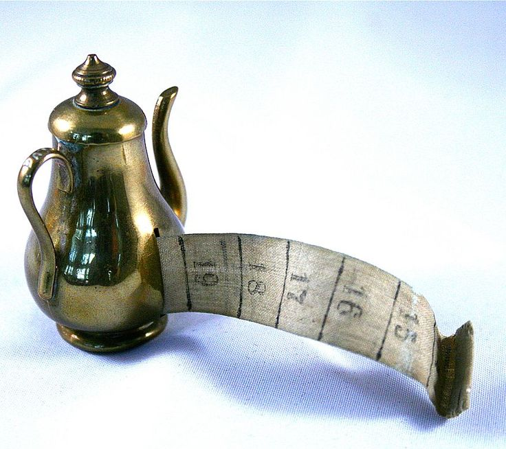 Antique English Brass Coffee Pot Tape Measure from theuncommonmarket on Ruby Lane