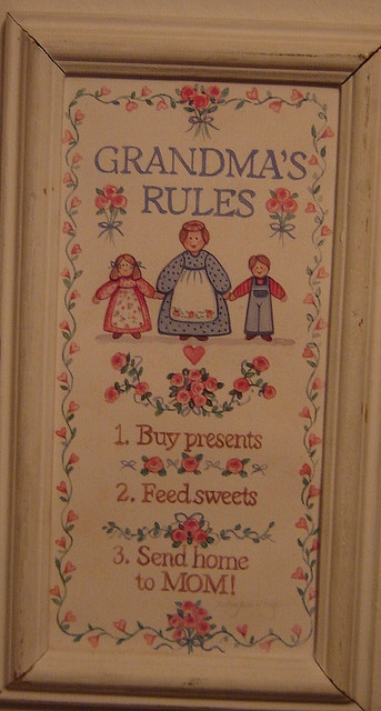 Grandma's Rules: Grandchildren Grandparents, Grandparent Quotes, Photo