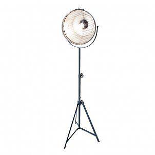 LEF collections Industriële vloerlamp Gaas zilver metaal 35x37x135-205cm