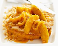 Pork chops with Apples and Winter Squash from Sandra Lee: Recipe Food, Best Recipe, Sandra Lee, Squash People, Recipe Dinners, Lee Pork, Winter Squash, Cold Soups, Pork Chops