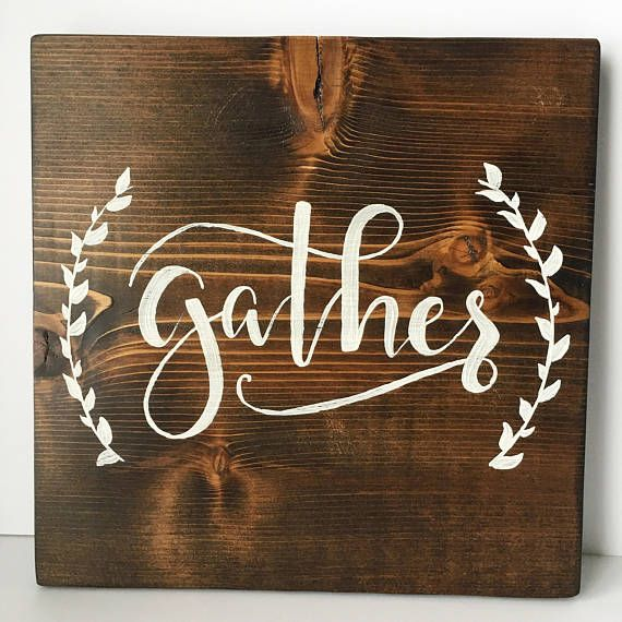 Gather Wooden Sign Thanksgiving Home Decor