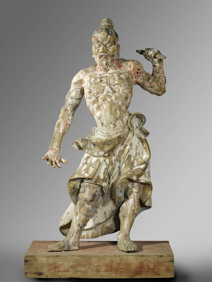 Two temple guardians, anoniem, ca. 1300 - ca. 1400