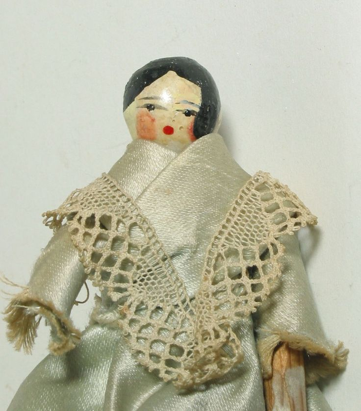 Lovely antique Grodnertal, peg wooden dolls' house doll. | eBay