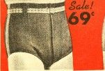 1940s mens swimsuit brief