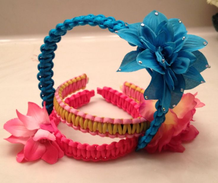 Appealing to the female demographic, paracord headbands