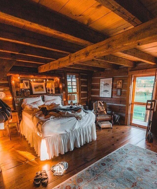 Bedroom at No. 5 Lake Front Dream Cabin at Big Bear