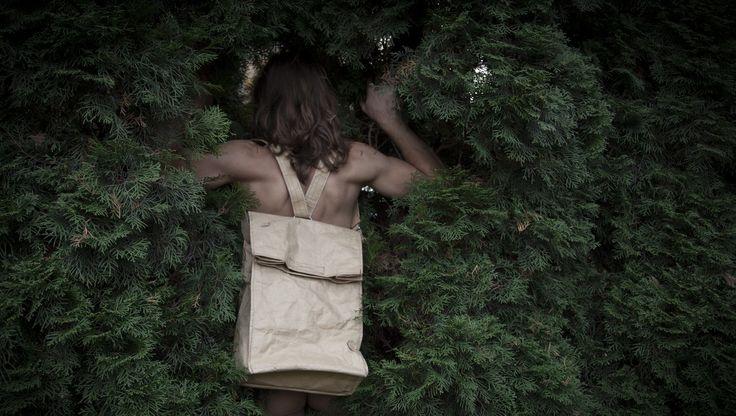 Paper BackPack - BackPack Panda   SS`2015 PANDAMITO  #pandamito #paperbag #fashion #eko #design #natural #noretouch