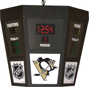 Pittsburgh Penguins Octagon Scoreboard Light